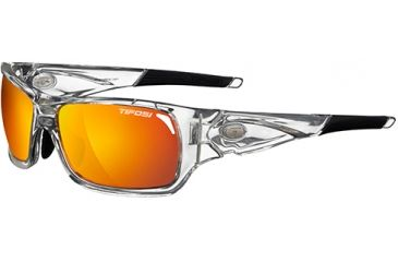 Tifosi Optics Duro w/ EC, GT, Smoke/Red Glare Guard Lenses, Crystal Clear Frame 1030205316