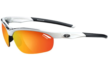 Tifosi Optics Veloce w/ AC Red, Clear, Smoke/Red Glare Guard Lenses, White/Black Frame 1040104803