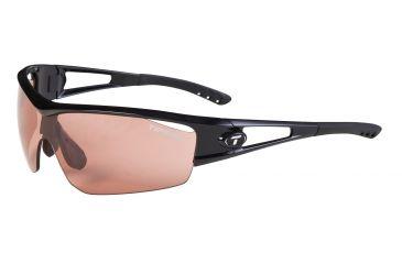 Tifosi Logic Sunglasses - Gloss Black Frame, High Speed Red Fototec Lenses 0050300230