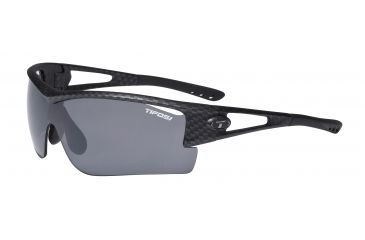 Tifosi Logic XL Sunglasses - Carbon Frame, Smoke/AC Red/Clear Lenses 0060100701