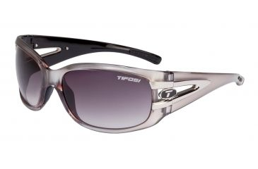 Tifosi Lust Sunglasses - Crystal Metallic White Frame, Smoke Gradient Lenses 0160404280