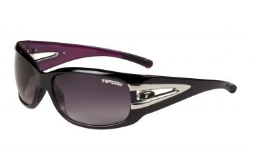 Tifosi Lust Sunglasses - Gloss Black/Pink Frame, Smoke Gradient Lenses 0160403280