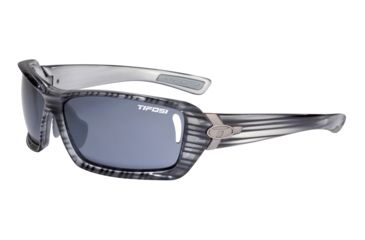 Tifosi Mast Sunglasses - Grey Stripe Frame, Smoke Fototec Lenses 0020302634