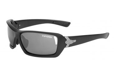 Tifosi Mast Sunglasses - Matte Black Frame, Smoke/AC Red/Clear Lenses 0020100101