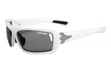 Tifosi Mast Sunglasses - Matte White Frame, Smoke Polarized Fototec Lenses 0020601261