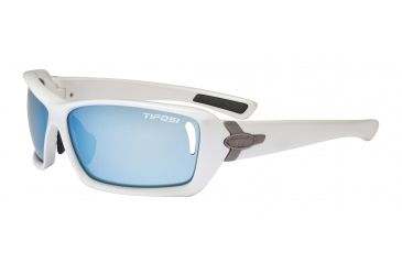 Tifosi Mast Sunglasses - Pearl White Frame, Smoke Bright Blue/AC Red/Clear Lenses 0020101104