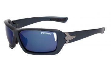 Tifosi Mast Sunglasses - Steel Blue Frame, Smoke Blue/AC Red/Clear Lenses 0020102404