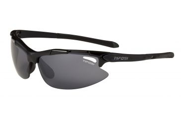 Tifosi Pave Sunglasses - Gloss Black Frame, Smoke Polarized Fototec Lenses 0130600261