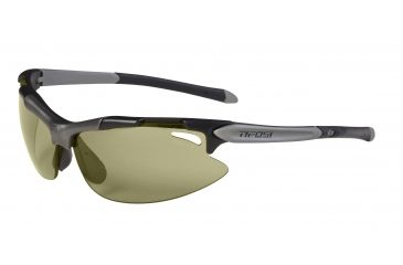 Tifosi Pave' Sunglasses - Matte Black Frame, All Terrain Green Fototec Lenses 0130300132