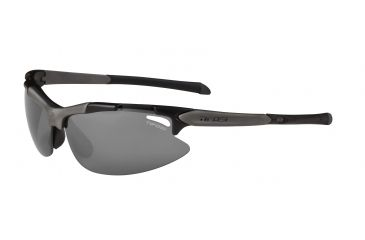 Tifosi Pave Sunglasses - Matte Black Frame, Smoke/AC Red/Clear Lenses 0130100101