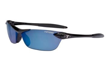 Tifosi Seek Sunglasses - Gloss Black Frame, Smoke Blue Lenses 0180400277