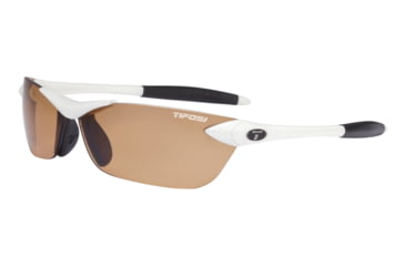 Tifosi Seek Sunglasses - Matte White Frame, Brown Polarized Fototec Lenses 0180601260