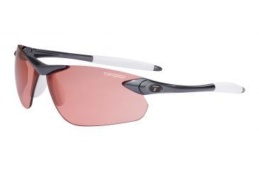Tifosi Seek FC Sunglasses - Gunmetal Frame, High Speed Red Fototec Lenses 0190300330