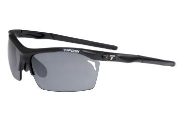 Tifosi Tempt Sunglasses - Matte Black Frame, Smoke/AC Red/Clear Lenses 0140100101