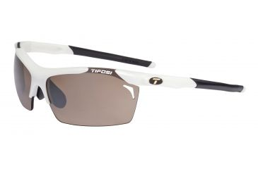 Tifosi Tempt Sunglasses - Matte White Frame, Brown/AC Red/Clear Lenses 0140101202