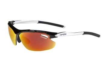 Tifosi Tyrant Sunglasses - Gloss Black Frame, Smoke Red/AC Red/Clear Lenses 0070100203