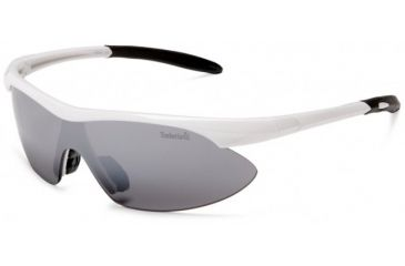Timberland TB7070 Sunglasses, Shiny White Frame & Solid Grey Flash Mirror Lens TB70700021A