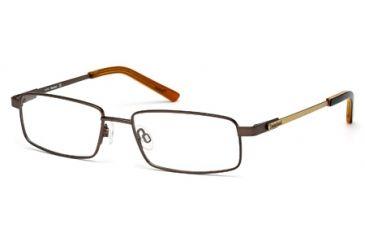 Timberland TB1271 Eyeglass Frames - Matte Dark Brown Frame Color