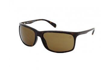 Timberland TB9002 Sunglasses - Dark Havana Frame Color, Brown Polarized Lens Color