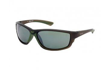 Timberland TB9046 Sunglasses - Shiny Dark Green Frame Color, Green Polarized Lens Color