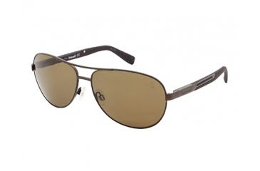Timberland TB9058 Sunglasses - Matte Dark Brown Frame Color, Brown Polarized Lens Color