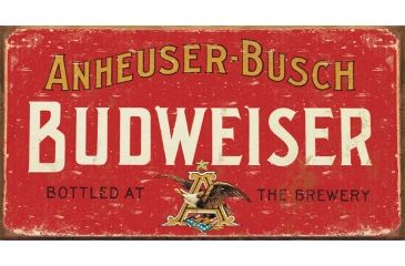 Tin Signs Budweiser Weathered Sign TSN1283