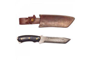 1-Titan Steel Fixed Knife, Bull Horn Handle, 6in. Knife TDK-39
