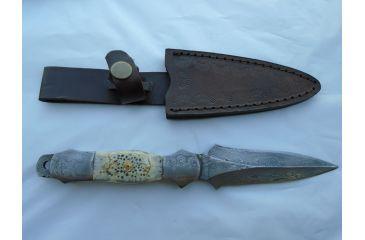 1-Titan Military Boot Dagger, Turtle Shell Handle 4.2in. Blade TDK-54