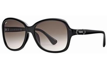 Tod's TO0028 Sunglasses - Shiny Black Frame Color, Brown Gradient Lens Color