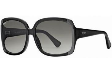 Tod's TO0040 Sunglasses - Shiny Black Frame Color, Gradient Smoke Lens Color