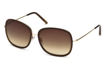 Tod's TO0047 Sunglasses - Shiny Dark Brown Frame Color, Gradient Brown Lens Color