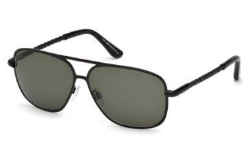 Tod's TO0098 Sunglasses - Matte Black Frame Color, Green Lens Color