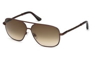 Tod's TO0098 Sunglasses - Shiny Dark Brown Frame Color, Gradient Brown Lens Color