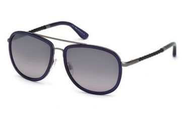 Tod's TO0100 Sunglasses - Blue Frame Color, Gradient Smoke Lens Color