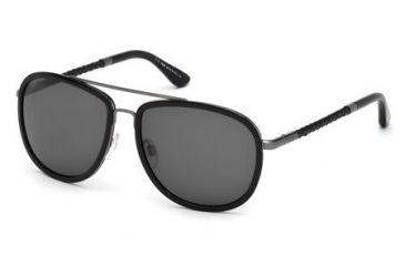 Tod's TO0100 Sunglasses - Shiny Black Frame Color, Smoke Lens Color