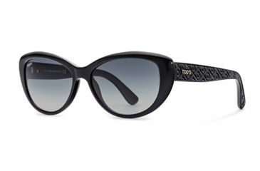 Tod's TO0112 Sunglasses - Shiny Black Frame Color, Gradient Smoke Lens Color