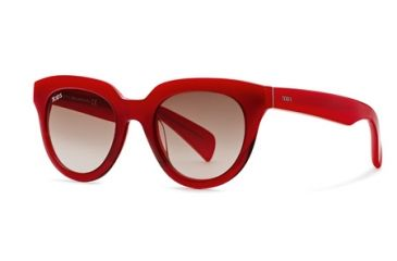 Tod's TO0117 Sunglasses - Red Frame Color, Gradient Brown Lens Color