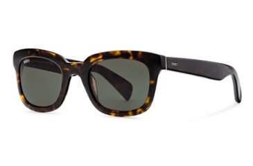 Tod's TO0121 Sunglasses - Dark Havana Frame Color, Green Lens Color