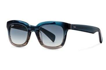 Tod's TO0121 Sunglasses - Turqoise Frame Color, Gradient Smoke Lens Color