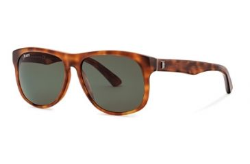 Tod's TO0125 Sunglasses - Havana Frame Color, Green Lens Color