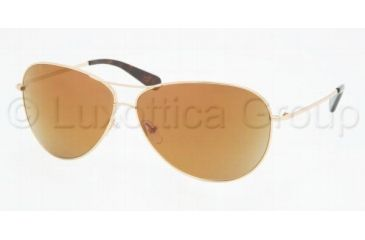 f7a7ec025d Tory Burch Tory Aviator Sunglasses TY6006 101 97-6411 - Gold Gold Mirror