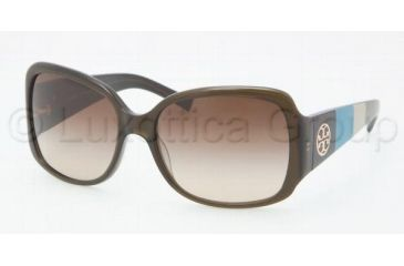 Tory Burch Tory C04 Sunglasses TY7004 110913-5817 - Olive Frame, Brown Gradient Lenses