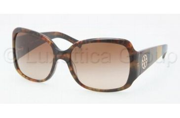 Tory Burch Tory C04 Sunglasses TY7004 111113-5817 - Antique Tortoise Frame, Brown Gradient Lenses