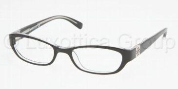 Tory Burch TY 2009 Eyeglasses Styles Black/Crystal Frame w/Non-Rx 50 mm Diameter Lenses, 541-5018