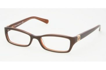 Tory Burch TY 2010 Eyeglasses Styles Putty/Bronze Frame w/Non-Rx 49 mm Diameter Lenses, 513-4916
