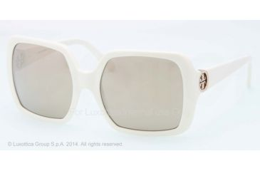 Tory Burch TY 7058 TY7058 Sunglasses 8545A-55 - Ivory Frame, Gold Mirror Lenses