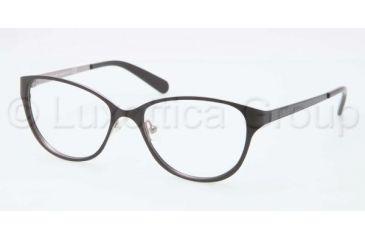 Tory Burch TY1030 TY1030 Progressive Prescription Eyeglasses 433-5315 - Matte Black/Silver Frame, Demo Lens Lenses