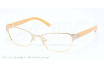 Tory Burch TY1040 Single Vision Prescription Eyeglasses 3029-51 - Satin Sand Gold Frame