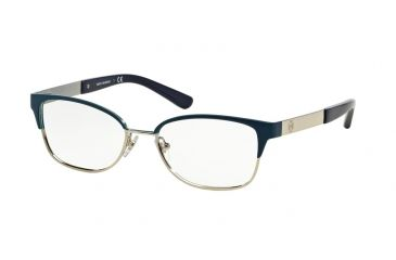 060280a6eefe Tory Burch TY1046 Eyeglass Frames 3142-50 - Dark Navy/satin Silver Frame