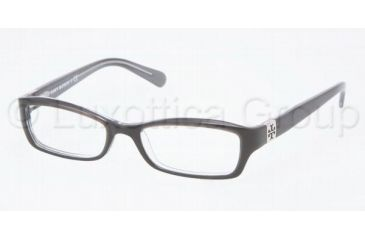 Tory Burch Ty2010 Eyeglasses TY2010 with No-Line Progressive Rx Prescription Lenses 1034-4916 - Black/Charcoal